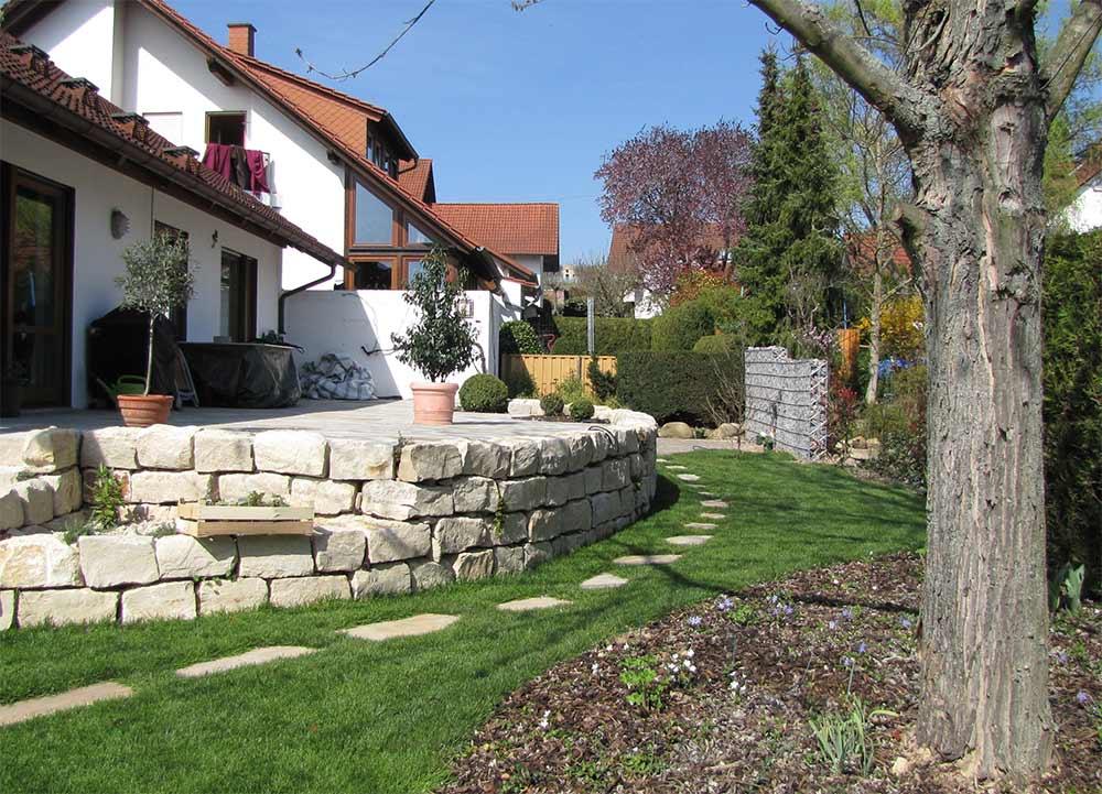 natursteinmauer garten hang, ludger schreiber   meisterbetrieb garten- und landschaftsbau, Design ideen